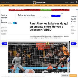 Raúl Jiménez falla tres de gol en empate de Wolves y Leicester- VIDEO - Mediotiempo
