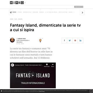 Fantasy Island, dimenticate la serie tv a cui si ispira - Wired