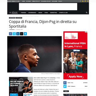Coppa di Francia, dove vedere Dijon Psg in Tv e streaming