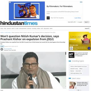 Won't question Nitish Kumar's decision, says Prashant Kishor on expulsion from JD(U) - india news - Hindustan Times