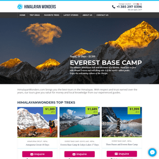 ArchiveBay.com - himalayanwonders.com - Treks to Everest Base Camp and Annapurna - HimalayanWonders.com