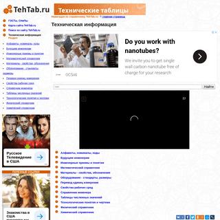 Техническая информация - таблицы Tehtab.ru