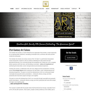 Fort Lauderdale Art Salons - Cultural Arts Social Events - Cultural Arts Events
