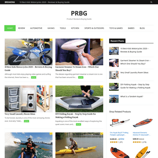 PRBG - Product Review & Buying Guide