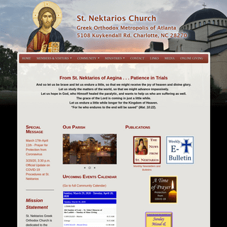 ArchiveBay.com - stnektarios.org - Home - St. Nektarios Greek Orthodox Church