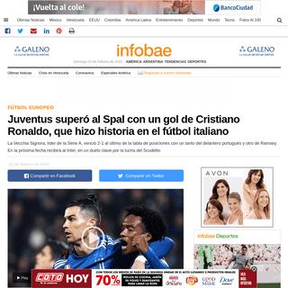 ArchiveBay.com - www.infobae.com/america/deportes/futbol-europeo/2020/02/22/en-un-duelo-de-extremos-juventus-visitara-a-spal-hora-tv-y-formaciones/ - Juventus superó al Spal con un gol de Cristiano Ronaldo, que hizo historia en el fútbol italiano - Infobae