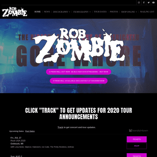 ArchiveBay.com - robzombie.com - ROB ZOMBIE – Official site - News, movies, music, tour dates & more.
