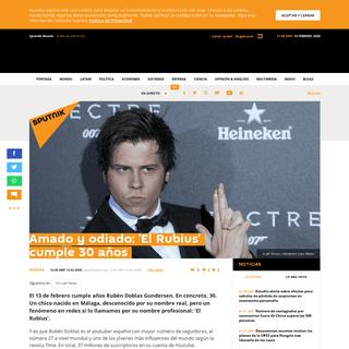 Amado y odiado- 'El Rubius' cumple 30 años - Sputnik Mundo