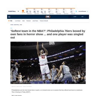 NBA scores, news- Philadelphia 76ers fans, boo, Ben Simmons injury, Brooklyn Nets result, video - Fox Sports
