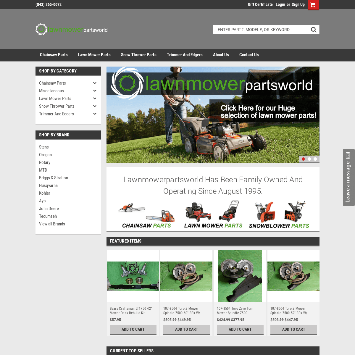 lawnmowerpartsworld - Lawn Mower Parts - Chainsaw Parts - Snowblower Parts - Trimmers and Edgers