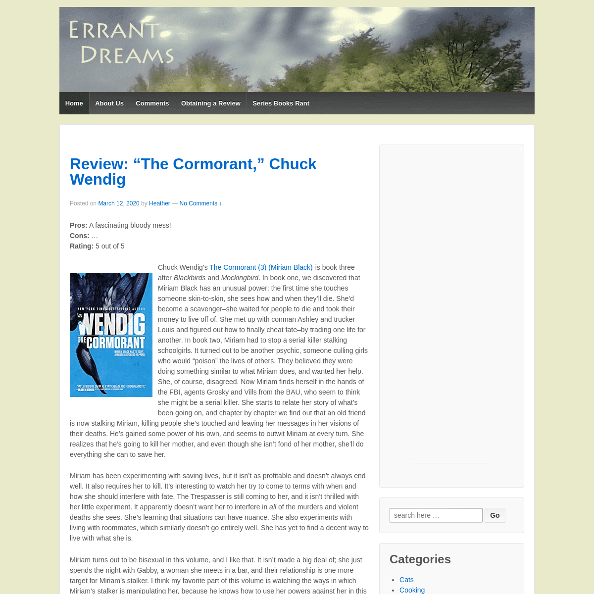 Errant Dreams – Book reviews of all kinds!