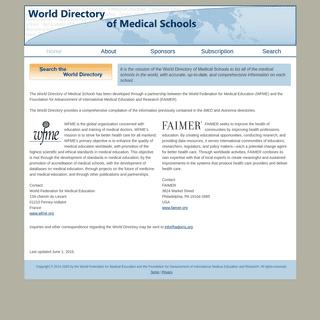 World Directory of Medical Schools