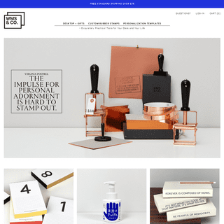 ArchiveBay.com - wmscoink.com - Wms&Co. » - Exquisitely Practical Tools for Your Desk and Your Life