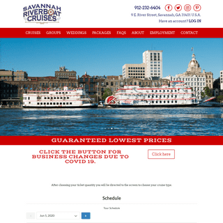 Savannah Riverboat - Schedule a Cruise with Us