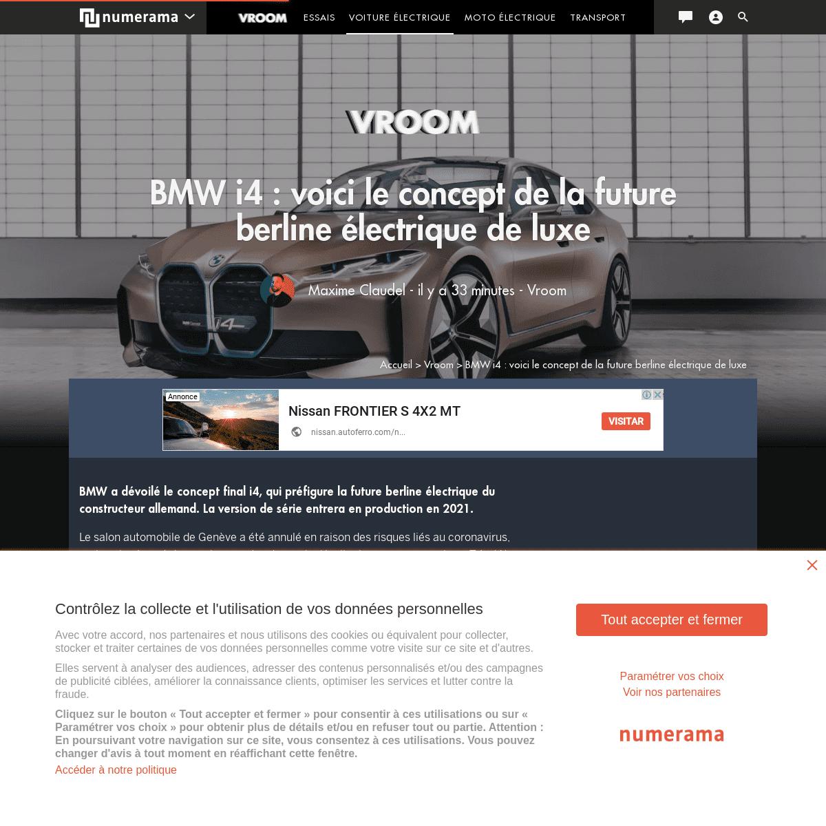 BMW i4 - voici le concept de la future berline électrique de luxe - Vroom - Numerama