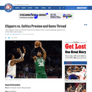 ArchiveBay.com - www.clipsnation.com/2020/2/13/21137059/clippers-vs-celtics-preview-and-game-thread - Clippers vs. Celtics Preview and Game Thread - Clips Nation