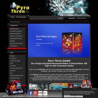 PyroThron - Ihr Feuerwerk-Onlineshop in Berlin