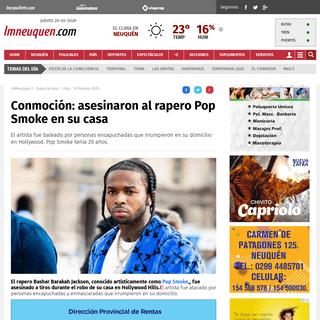 ArchiveBay.com - www.lmneuquen.com/conmocion-asesinaron-al-rapero-pop-smoke-su-casa-n685155 - Conmoción- asesinaron al rapero Pop Smoke en su casa - Pop, Smoke, rap