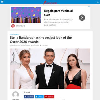 Stella Banderas has the sexiest look of the Oscar 2020 awards - Asap Land