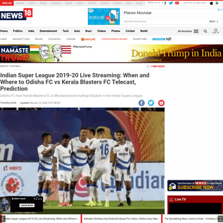 Indian Super League 2019-20 Live Streaming- When and Where to Odisha FC vs Kerala Blasters FC Telecast, Prediction - News18