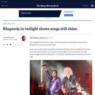 Rhapsody in twilight shows songs still shine