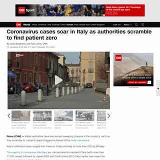 ArchiveBay.com - www.cnn.com/2020/02/23/europe/italy-novel-coronavirus-spike-intl/index.html - Italy coronavirus cases soar as authorities scramble to find patient zero - CNN
