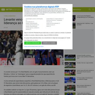 ArchiveBay.com - www.rtp.pt/noticias/futebol-internacional/levante-vence-real-madrid-e-entrega-lideranca-ao-fc-barcelona_d1207148 - Levante vence Real Madrid e entrega liderança ao FC Barcelona