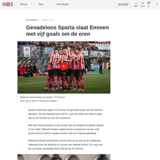 ArchiveBay.com - nos.nl/l/2325358 - Genadeloos Sparta slaat Emmen met vijf goals om de oren - NOS