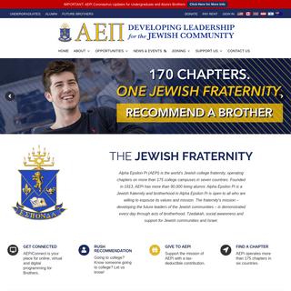 AEPi – Developing Leadership for the Jewish Community