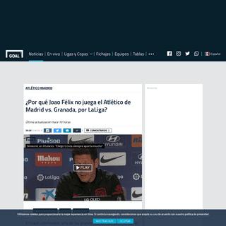 ¿Por qué Joao Félix no juega el Atlético de Madrid vs. Granada, por LaLiga- - Goal.com