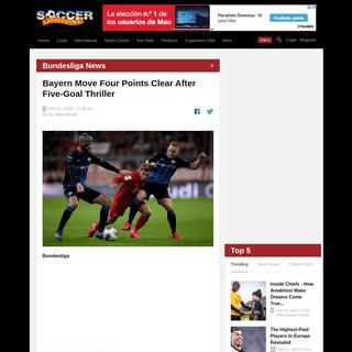 Bundesliga Report- Bayern Munich v Paderborn 21 February 2020