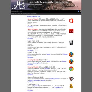 Huntsville Macintosh Users Group- News