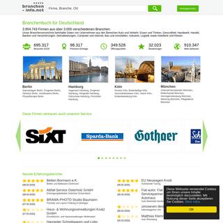 Branchenbuch branchen-info.net, Ihr Branchenbuch für Deutschland