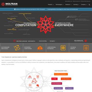 Wolfram- Computation Meets Knowledge