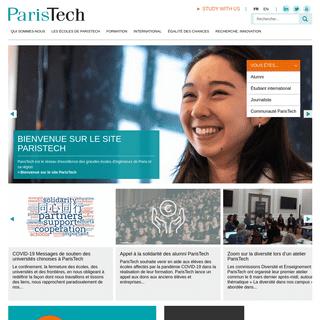 Portail ParisTech - ParisTech rassemble douze des plus prestigieuses grandes écoles françaises.
