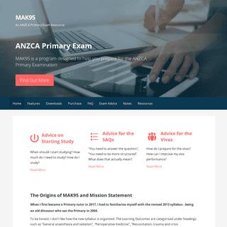 MAK95 – An ANZCA Primary Exam Resource