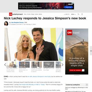 Nick Lachey responds to Jessica Simpson's new book - CNN