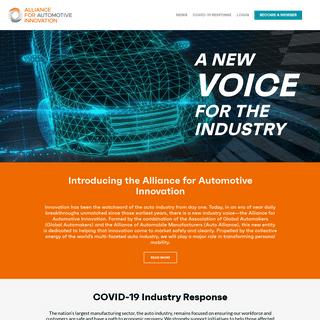 ArchiveBay.com - autosinnovate.org - Alliance for Automotive Innovation - Alliance for Automotive Innovation