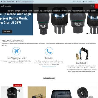 Astronomics - Outdoor Scientific & Astronomical Gear - Astronomics.com