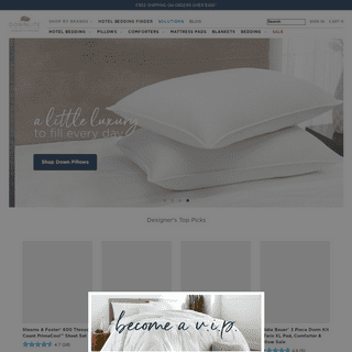 Hotel Bedding, Pillows & Comforters - Downlite