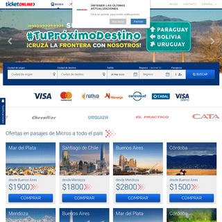 Pasajes de Micro baratos en Ticket Online