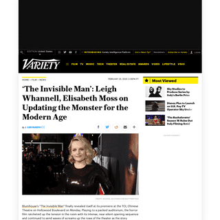ArchiveBay.com - variety.com/2020/film/news/elisabeth-moss-leigh-whannell-the-invisible-man-premiere-blumhouse-1203515367/ - 'The Invisible Man' Team on Updating the Monster for the Modern Age – Variety