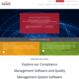 Quality Management & Regulatory Compliance System Software - AssurX