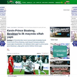 Kevin-Prince Boateng, Beşiktaş'la ilk maçında siftah yaptı - Spor Haberleri