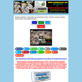 MAKE MONEY ONLINE IN NIGERIA INTO YOUR LOCAL BANK ACCOUNT GUARANTEED!