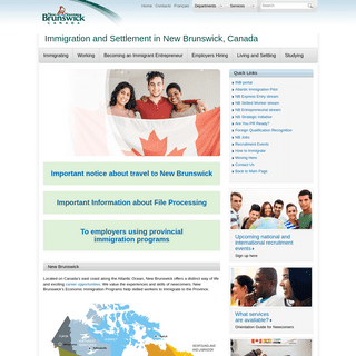 Immigration and Settlement in New Brunswick, Canada