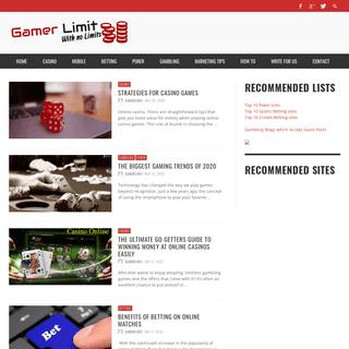 Gambling Games Online Guide - Site Reviews-GamerLimit.com