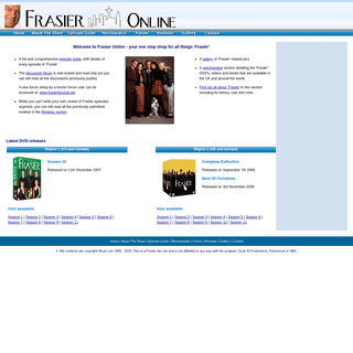 Welcome to Frasier Online - your one stop shop for all things 'Frasier'