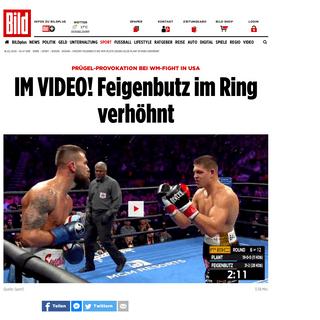 Boxen – Vincent Feigenbutz bei WM-Pleite gegen Caleb Plant im Ring verhöhnt - Boxen - Bild.de