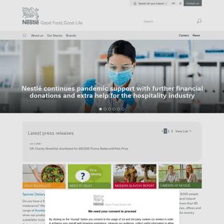Home - Nestlé UK - Good Food, Good Life - Nestlé